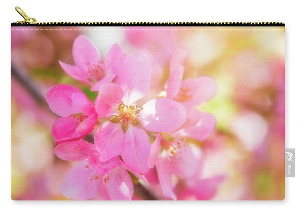 Apple Blossoms Cheerful Glow Carry-all Pouch