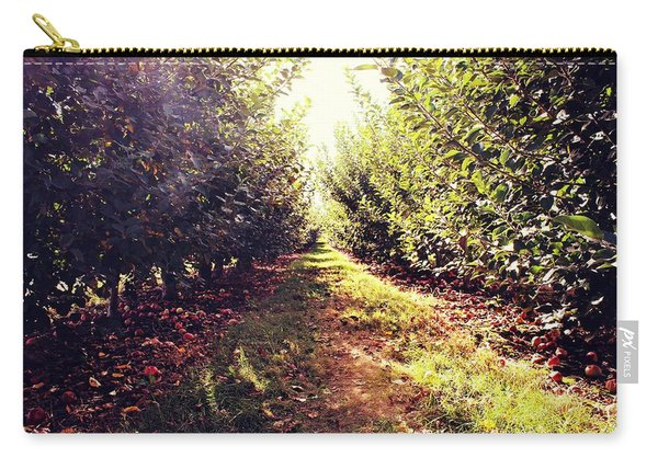 Carry-all Pouch featuring the photograph Apple Orchard by Candice Trimble