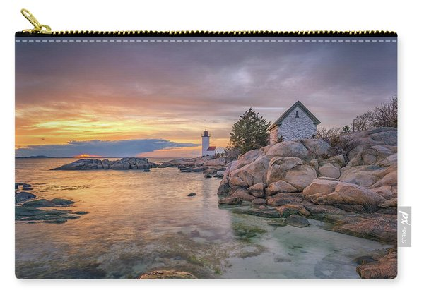 April Sunset At Annisquam Harbor Lighthouse Carry-all Pouch