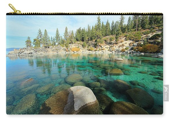 Carry-all Pouch featuring the photograph Aqua Autumn  by Sean Sarsfield