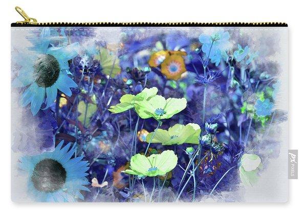 Aqua Blue Carry-all Pouch