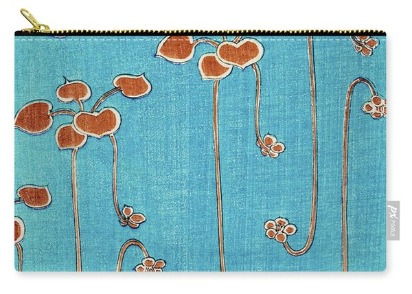 Aquatic Plants - Japanese Traditional Pattern Design Carry-all Pouch