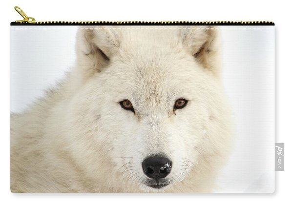 Arctic Wolf Close Up Carry-all Pouch