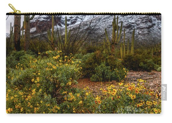 Arizona Flowers And Snow Carry-all Pouch