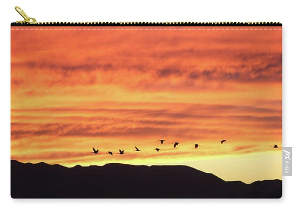 Carry-all Pouch featuring the photograph Arizona Sunset Of The Mule Mountains by Jean Clark
