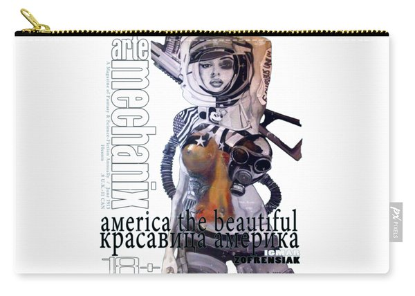 arteMECHANIX 1913 AMERICA THE BEAUTIFUL GRUNGE Carry-all Pouch