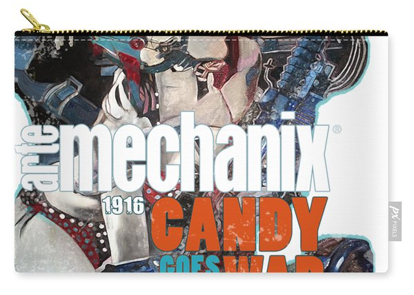 arteMECHANIX 1916 CANDY GOES TO WAR  GRUNGE Carry-all Pouch