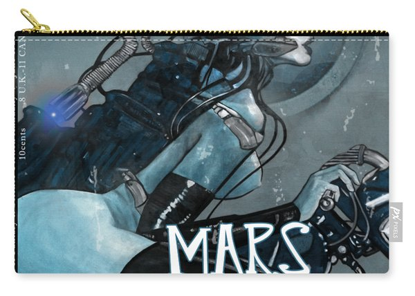 arteMECHANIX 1926 MARS IN FURS GRUNGE Carry-all Pouch