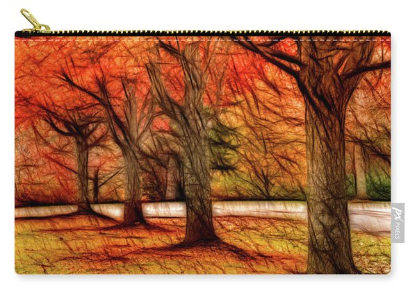 Artistic Four Fall Trees Carry-all Pouch
