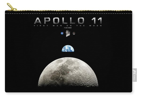 Apollo 11 First Man On The Moon Carry-all Pouch