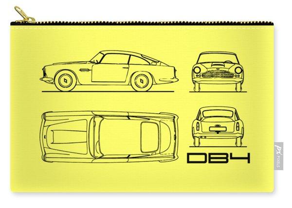 Aston Martin Db4 Blueprint Carry-all Pouch