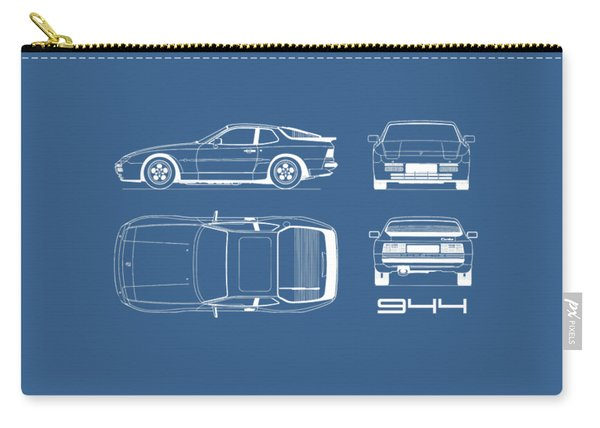 Porsche 944 Blueprint Carry-all Pouch