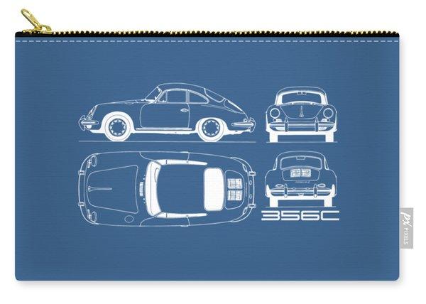 Porsche 356 C Blueprint Carry-all Pouch