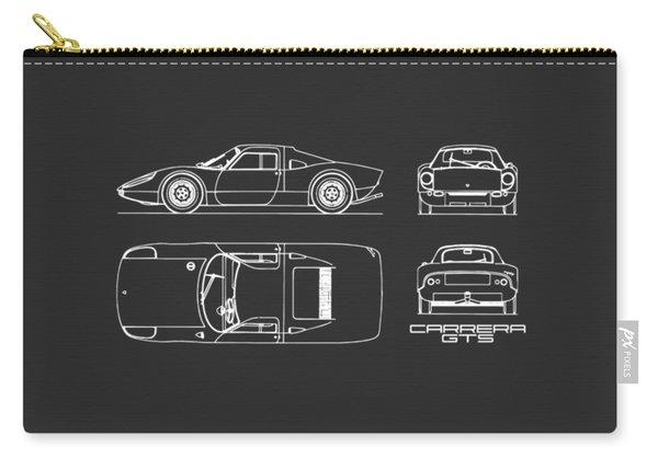 Porsche Carrera Blueprint - Black Carry-all Pouch