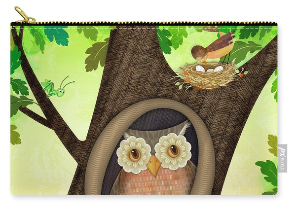 O Is For Owl Carry-all Pouch