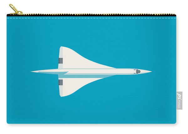 Concorde Jet Airliner - Cyan Carry-all Pouch