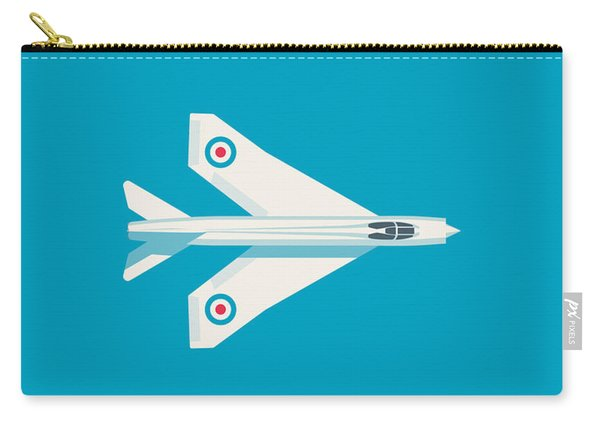 English Electric Lightning Fighter Jet Aircraft - Blue Carry-all Pouch