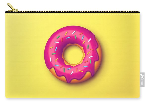 Forbidden Doughnut - Yellow Carry-all Pouch