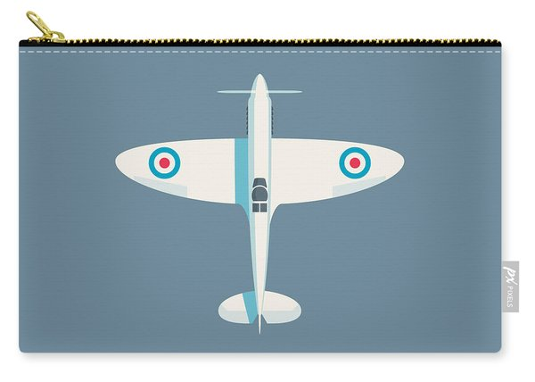Supermarine Spitfire Wwii Fighter Aircraft - Slate Carry-all Pouch