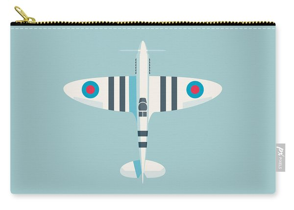 Supermarine Spitfire Fighter Aircraft - Stripe Sky Carry-all Pouch