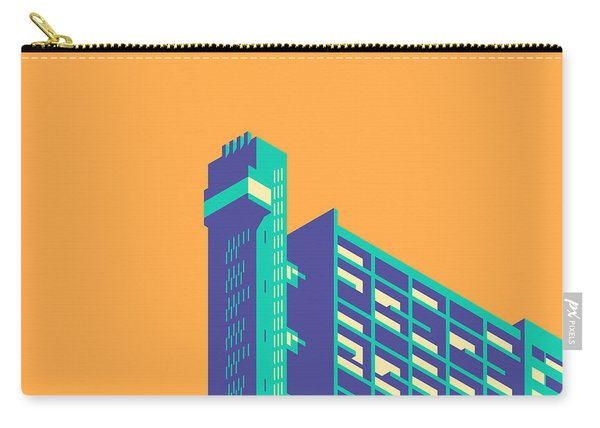 Trellick Tower London Brutalist Architecture - Plain Apricot Carry-all Pouch