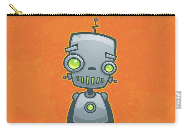 Happy Robot Carry-all Pouch