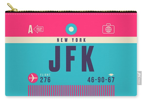 Retro Airline Luggage Tag - Jfk New York John F. Kennedy Carry-all Pouch