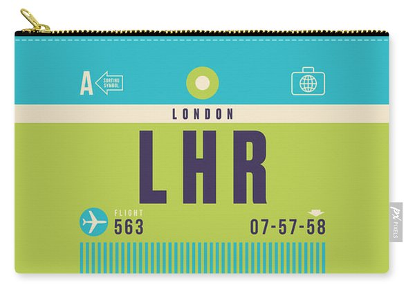 Retro Airline Luggage Tag - Lhr London Heathrow Carry-all Pouch