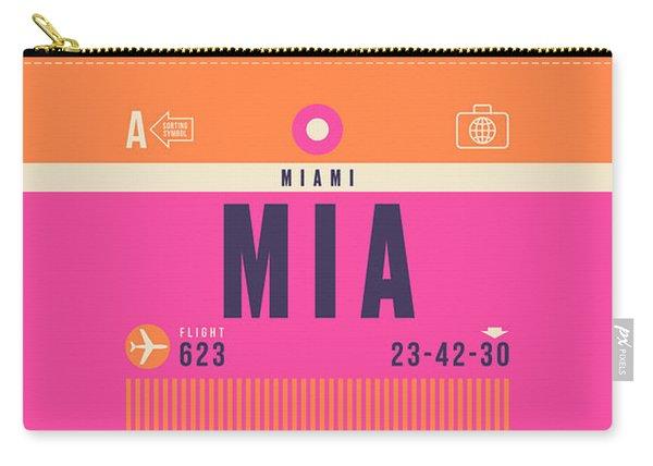 Retro Airline Luggage Tag - Mia Miami Carry-all Pouch
