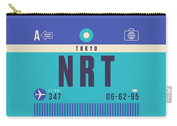 Retro Airline Luggage Tag - Nrt Tokyo Narita Carry-all Pouch