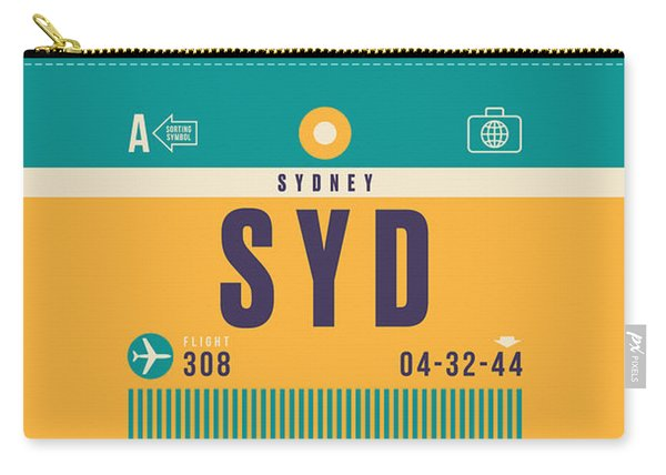 Retro Airline Luggage Tag - Syd Sydney Kingsford Smith Carry-all Pouch