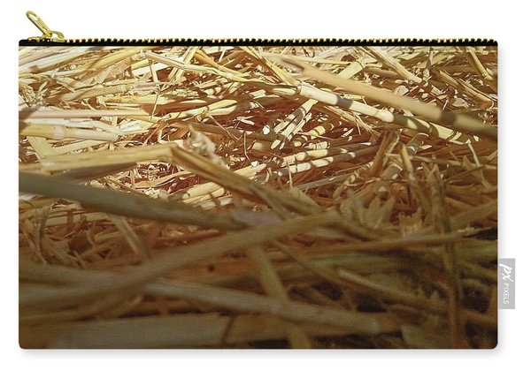Golden Straw Bed Carry-all Pouch