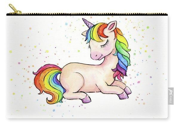 Sleeping Baby Rainbow Unicorn Carry-all Pouch