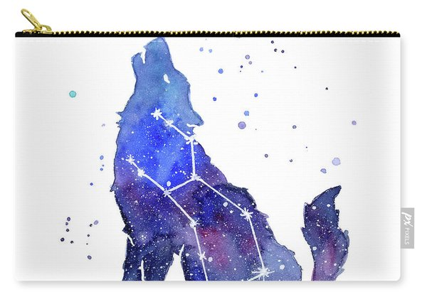 Galaxy Wolf - Lupus Constellation Carry-all Pouch