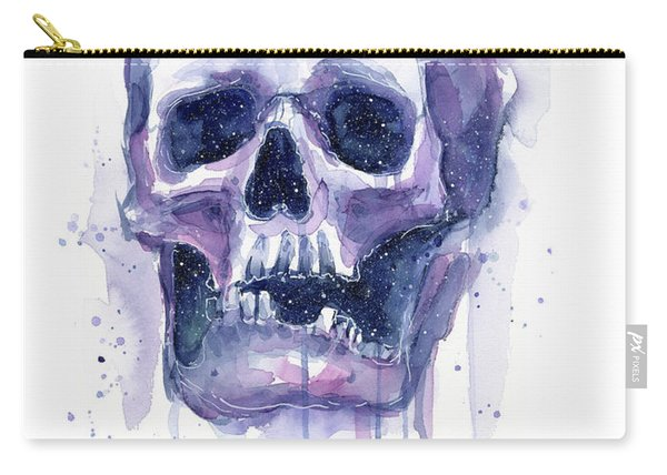 Skull In Space Carry-all Pouch