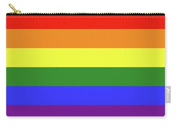 Lgbt 6 Color Rainbow Flag Carry-all Pouch