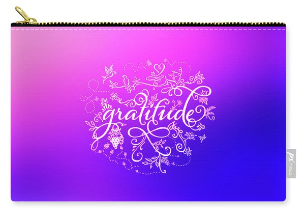 Purply Pink Gratitude Carry-all Pouch