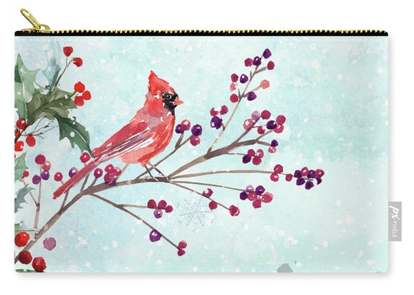 Woodland Holiday Peace Art Carry-all Pouch