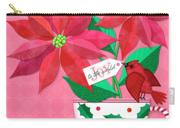 Poinsettia In Christmas Cup Carry-all Pouch