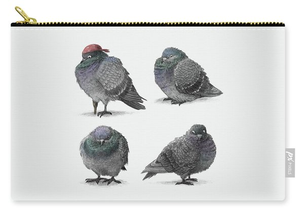 Four Pigeons Carry-all Pouch
