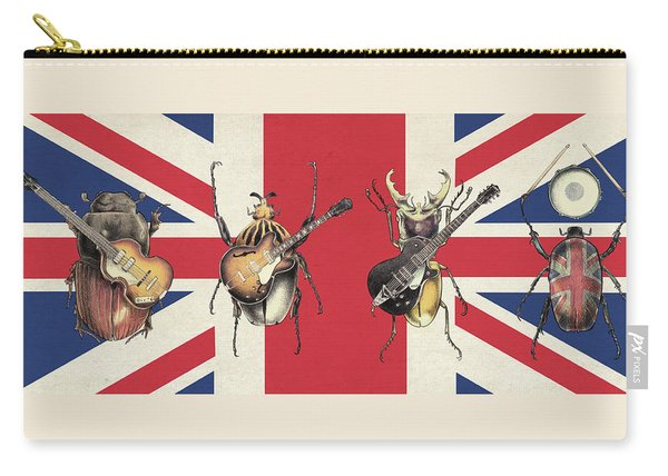 Meet The Beetles - Union Jack Carry-all Pouch