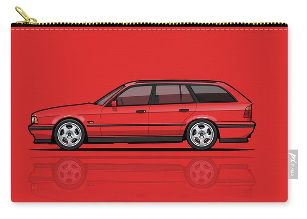 Brilliant Red Bavarian E34fuenfer Wagon Kombi Carry-all Pouch