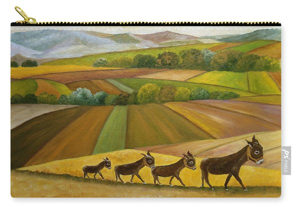 Carry-all Pouch featuring the painting Sunday Promenade by Angeles M Pomata