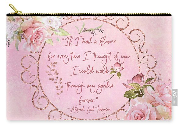 If I Had A Flower Love Artwork Carry-all Pouch