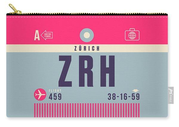 Retro Airline Luggage Tag - Zrh Zurich Airport Switzerland Carry-all Pouch