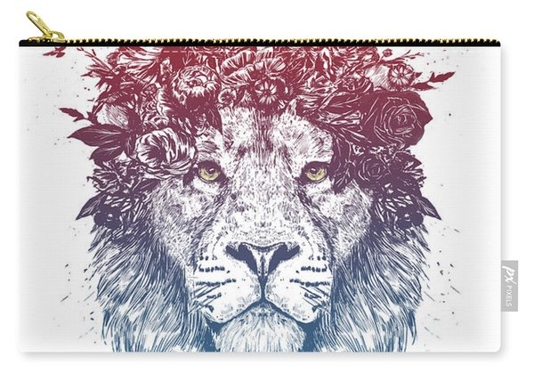 Floral Lion IIi Carry-all Pouch