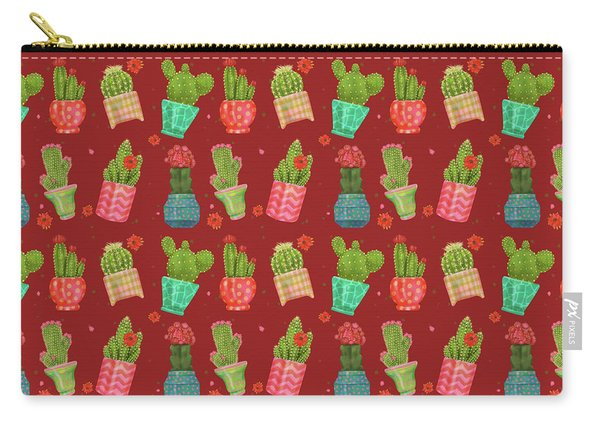 Cactus Friends Carry-all Pouch