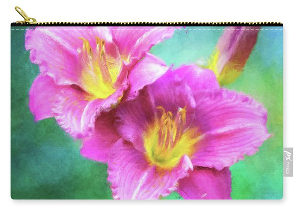 Dynamic Daylily Duo Carry-all Pouch