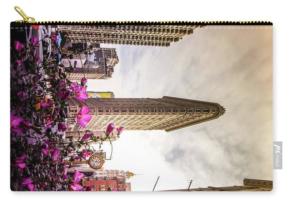 Flatiron And Flowers Carry-all Pouch