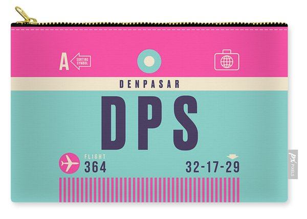 Retro Airline Luggage Tag - Dps Denpasar Bali Indonesia Carry-all Pouch